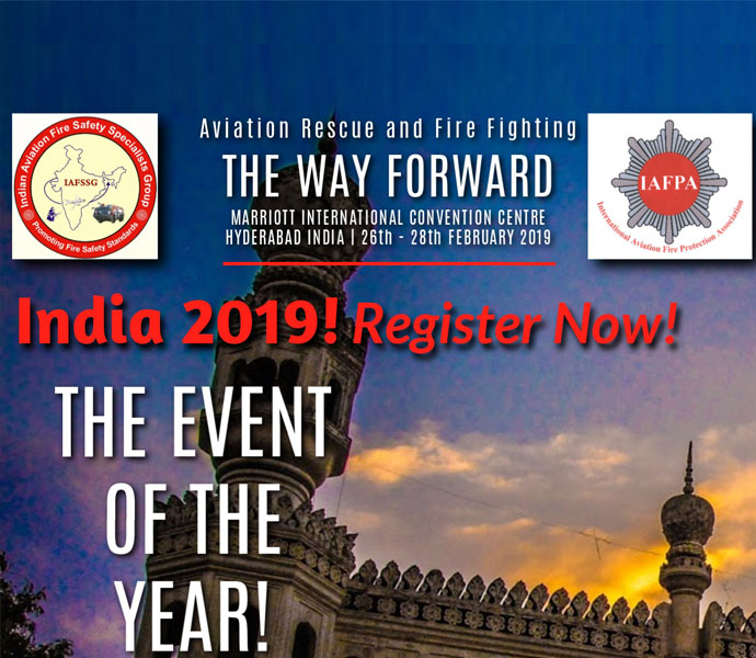"India 2019 ""Aviation Rescue and Fire Fighting – The Way Forward"""